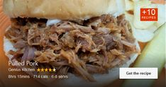 My brother created this recipe a few years ago. It's great for family gatherings, games days, or make-ahead …. Available via geniuskitchen.com. Pulled Pork Recipes, Family Gatherings, Brother, Beef, Games, Ethnic Recipes, Food, Meat, Family Reunions