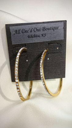 ADO | Diamond Hoop Earrings Gold