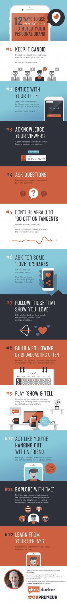 12 Ways to Use Periscope to Build Your Personal Brand [Infographic]