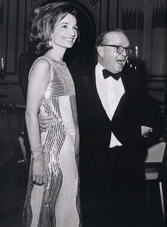 Lee Radziwill and Truman Capote at the Black and White Ball, 1966. Dress: Mila Schon.