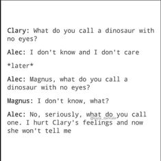 Awww he cared about hurting her feelings awwwwwww❤️❤️❤️❤️ Shadowhunters Malec, Shadowhunters The Mortal Instruments, Clace, Mortal Instruments Memes, Immortal Instruments, Clary And Jace, Clary Fray, Dont Push Me Away, Jace Lightwood