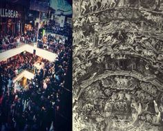Spot the difference - Dante's version of Hell versus Boxing Day at Westfield...