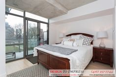Master bedroom in Downtown Toronto condo, staged to sell for a high ROI via Toronto's home staging company, Design to Impress!