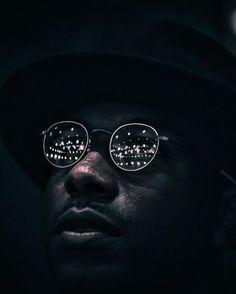 Black man . Night lights . Portrait Photography: