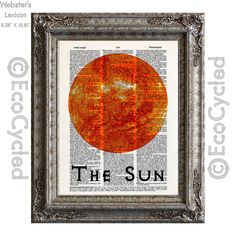 The Sun Center of Our Solar System on Vintage by EcoCycled on Etsy