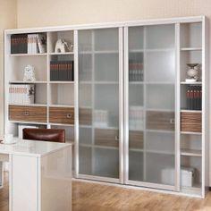 prateleiras de madeira com porta de vidro livros - Pesquisa Google