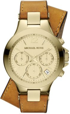 Wrap Leather Watch by #MichaelKors. He always gets watches right.