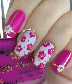 50 Lovely Pink and White Nail Art Designs - Styletic Fingernail Designs, Nail Polish Designs, Acrylic Nail Designs, Nail Art Designs, Nails Design, Fabulous Nails, Gorgeous Nails, Pretty Nails, Amazing Nails