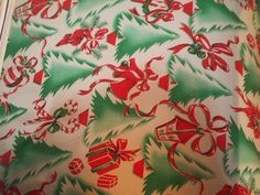 Vintage Christmas Wrapping Paper Gift Wrap Sample Book 1953 (10/19/2013)