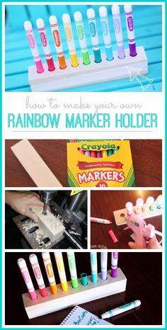 Rainbow Marker Holder - Sugar Bee Crafts