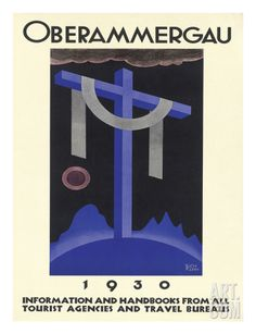 Oberammergau c.1930 Giclee Print by Richard Klein at Art.com