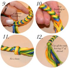 How to make a fishtail friendship bracelet.