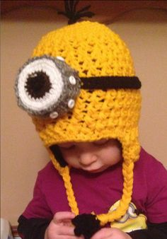 Minion hat for kids or the kids at heart. on Etsy, $35.00 CAD