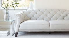 Luxe Modern 2 Seater Leather Chesterfield Sofa from Danetti.