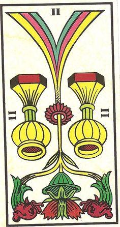 Arcano Menor - II de Copas Invertido - Carta Tarot para 08-09-2014