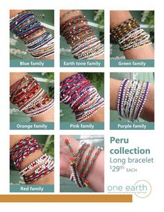 Long bracelets - Luther's Boutique Online Shop - One Earth, Younique, Photography | Peru Collection