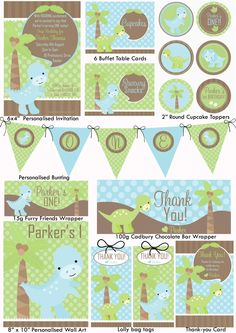 Baby Dinosaurs Party Printables