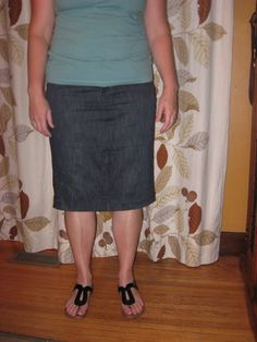 Jeans to Pencil Skirt Refashion |