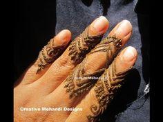 YouTube finger henna mehndi design