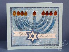 Hanukkah Card by May Flaum