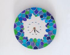 Mermaid Wall Clock turquoise Mirror clock Hand Painted Silent Wall Clock Mermaid decor Nautical home decor Mermaid Wine Glasses, Mermaid Mugs, Mermaid Ring, Mirror Wall Clock, Wall Clock Silent, Cool Clocks, Hand Painted Walls, Free To Use Images, Diy Clock