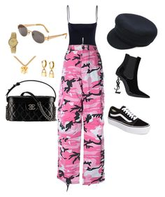 """""""set #28"""" by winnii ❤ liked on Polyvore featuring Chanel, Jean-Paul Gaultier, Vans, Rothco, Isabel Marant, Gomelsky and Yves Saint Laurent"""