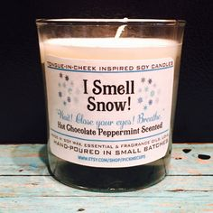 Gilmore Girls Snow Soy Candle- Lorelai Snow Inspired Hot Chocolate Mint Scented Candle -Gilmore Girls Gifts- Coffee Candle- Rory