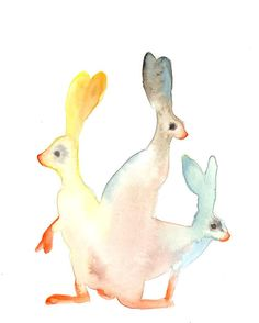 Jack Rabbits by Andrea Shear (perfect for the #kid's room) #art
