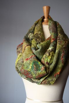 Farb-und Stilberatung mit www.farben-reich.com Nuno felted scarf wool silk | Flickr - Photo Sharing!