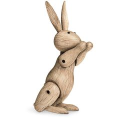 Kay Bojesen Rabbit Wooden Figurine - Oak ($112) ❤ liked on Polyvore featuring home, home decor, filler, wood figurine, wood figure, wooden home decor, rabbit home decor and bunny figurines