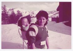 Vintage 80s PHOTO Young Woman w/ Baby in Backpack Carrier in Snow   eBay Huntington Park, Baby Wearing, Young Women, Drawstring Backpack, United States, Backpacks, History, Vintage, Historia