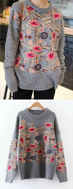 ❤️ A Floral Embroidery Sweater is now available at $68 from Pasaboho. This sweater exhibit brilliant colours with beautiful embroidered floral patterns. Available for Wholesale and Retail. ❤️:: boho fashion :: gypsy style :: hippie chic :: boho chic :: outfit ideas :: boho clothing :: free spirit :: fashion trend :: embroidered :: flowers :: floral :: lace :: summer :: fabulous :: love :: street style :: fashion style :: boho style :: bohemian :: ethnic tribal :: boho bag :: sweater…