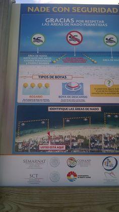 Puerto Morelos beach safety sign