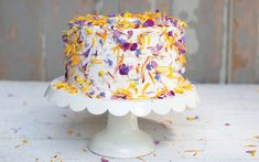 Flowerfetti cake. Stunning Botanical Sweets: Cooking with Flowers