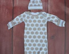 newborn coming home outfit blue dots by MyPurplePrincessShop