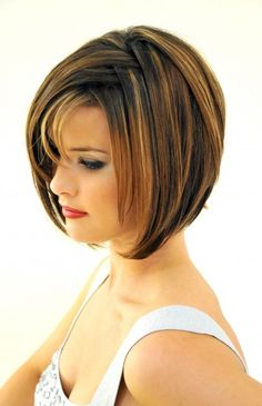 Side Parted Short Bob Cut with Long Bangs