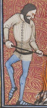 Vincent de Beauvais, Speculum historiale, traduction française par Jean de Vignay. vol. III. (Livres XI-XIII).  Date d'édition :  1370-1380  NAF 15941   Folio 30r