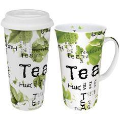 Konitz Tea to Tea to Go Mega Mug Tea Collage ($28) ❤ liked on Polyvore featuring home, kitchen & dining, drinkware, white, tea travel mug, porcelain mugs, porcelain tea mugs, porcelain travel mug and couple mugs