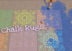Sims 4 CC's - The Best: Chalk Rugs by hamburgercakes