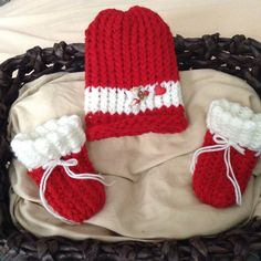 Cupid Valentine's Day baby hat and booties.  Ready to ship today!