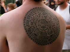 Aztec Calendar Tattoo - pictures, photos, images