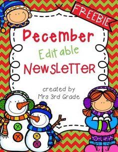 December Newsletter Templates | Newsletter templates, December and ...