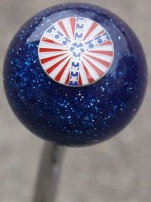 Blue Sparkle Patriotic Peace Shift Knob