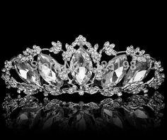 Nova chegada 1 pçs/lote estilo moda coreano rhinestone sliver mulheres casamento tiara coroa de noiva acessórios de jóias por atacado em Jóias para cabelo de Jóias no AliExpress.com   Alibaba Group