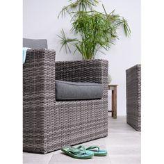 Garden Impressions Bruno loungeset incl- fauteuil - grijs Wicker