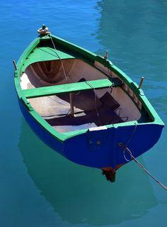 A small boat in St. Julian's Bay in Malta