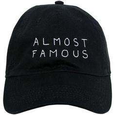 Nasaseasons Women Almost Famous Embroidered Baseball Hat ($66) ❤ liked on Polyvore featuring accessories, hats, caps, black, embroidered caps, embroidered hats, baseball cap, baseball hats and embroidered baseball caps