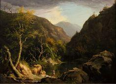 """Autumn in The Catskills,"" Thomas Cole, oil, Arnot Art Museum."