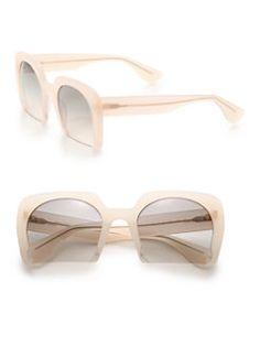 Miu Miu - Cropped 53MM Square Sunglasses