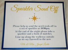 Nautical Sparkler Sendoff Wedding Sign Shop: www.etsy.com/shop/mysentimentsinvites